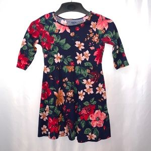 Old Navy Little Girls Floral Dress Size Small 6-7